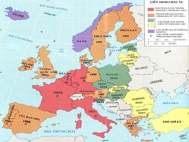 Khối châu Âu gồm những nước nào?