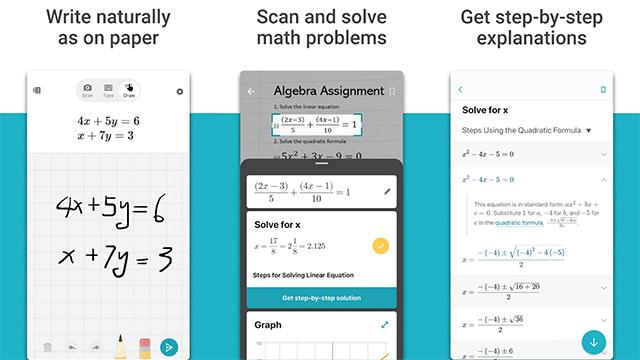 ứng dụng giải toán trên iphone