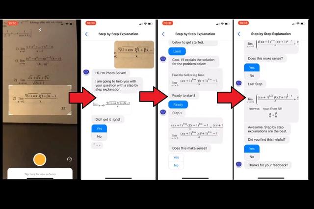 phần mềm giải toán hình trên điện thoại