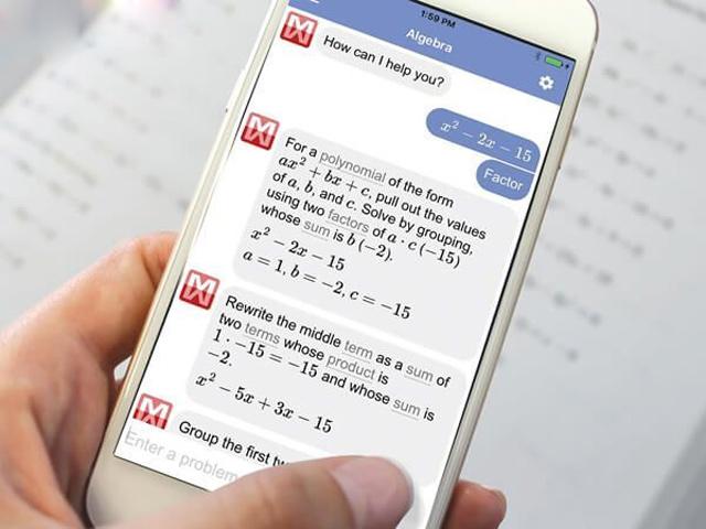 các ứng dụng giải toán trên điện thoại