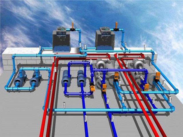 Tháp giải nhiệt Chiller trong hệ thống làm lạnh